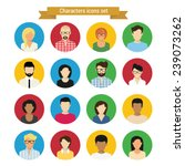 vector characters round icons... | Shutterstock .eps vector #239073262