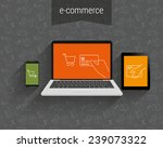 e commerce vector illustration. ... | Shutterstock .eps vector #239073322