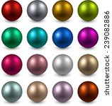set of realistic shiny colorful ...