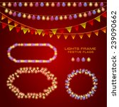 set with frames of  festive... | Shutterstock .eps vector #239090662