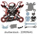vector bikers simbols...