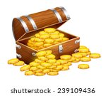 pirates trunk chest full of... | Shutterstock .eps vector #239109436