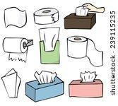 vector set of tissue paper | Shutterstock .eps vector #239115235