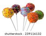 sweet cake pops isolated on... | Shutterstock . vector #239116132