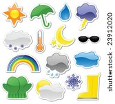 Glossy Weather Stickers ...