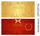voucher  gift certificate ... | Shutterstock . vector #239120716