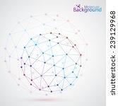 geometric lattice   the... | Shutterstock .eps vector #239129968