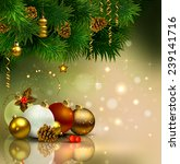 christmas background with... | Shutterstock .eps vector #239141716