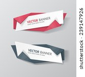 vector infographic origami... | Shutterstock .eps vector #239147926