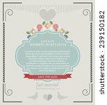 wedding card flat. wedding card ... | Shutterstock .eps vector #239150182