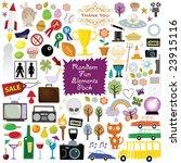 random mixed clip art elements | Shutterstock .eps vector #23915116