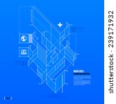 abstract blueprint with complex ... | Shutterstock .eps vector #239171932
