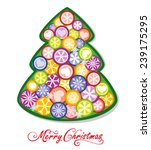 christmas background with... | Shutterstock .eps vector #239175295
