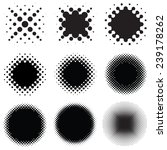 set of round halftone vector...   Shutterstock .eps vector #239178262