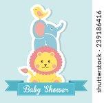 baby shower design | Shutterstock .eps vector #239186416