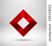red abstract technology rhombic ...