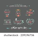 valentines day labels chalkboard | Shutterstock .eps vector #239196736