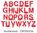 alphabets in uppercase with... | Shutterstock .eps vector #239200156