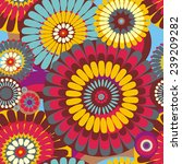 seamless pattern of decorative... | Shutterstock . vector #239209282
