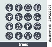 set of simple tree icons | Shutterstock .eps vector #239223106