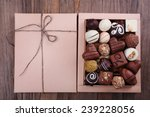 Box Filled With Chocolates On...
