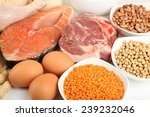 Food High In Protein Close Up