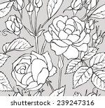 seamless pattern rose black  ...   Shutterstock .eps vector #239247316