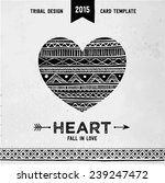 Hand Drawn Aztec Style Heart....