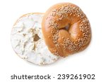 Bagel With Sesame And Cream...