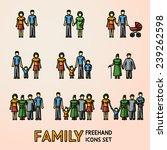 multigenerational family... | Shutterstock .eps vector #239262598