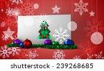 hipster christmas tree against... | Shutterstock . vector #239268685