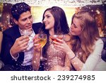 friends toasting against gold... | Shutterstock . vector #239274985