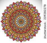 mandala. vintage decorative... | Shutterstock .eps vector #239282278