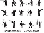 pictogram people with hunting... | Shutterstock .eps vector #239285035