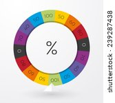 Color Wheel Of Fortune With...