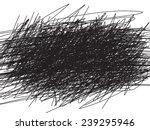 Scribble black background, Vector