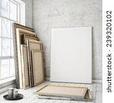 mock up poster frames and... | Shutterstock . vector #239320102