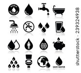 world water day icons   ecology ... | Shutterstock .eps vector #239324938