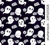 ghost vector seamless pattern... | Shutterstock .eps vector #239325328