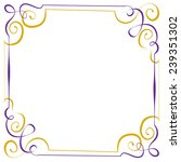 multilayer vector violet yellow ... | Shutterstock .eps vector #239351302