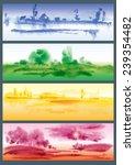 Four Seasons. Watercolor...