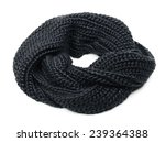 black knitted scarf isolated on ... | Shutterstock . vector #239364388