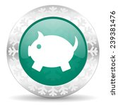 piggy bank green icon ... | Shutterstock . vector #239381476