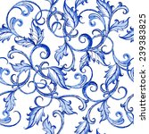 vector floral watercolor... | Shutterstock .eps vector #239383825