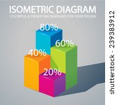 isometric diagram. vector... | Shutterstock .eps vector #239383912