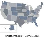 a vector usa map with all... | Shutterstock .eps vector #23938603