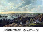 View of Georgetown, in Washington, D.C., in 1855.