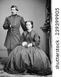 George Mcclellan And His Wife ...