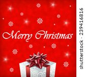 merry christmas gift... | Shutterstock . vector #239416816