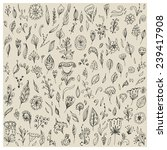 big collection of hand drawn...   Shutterstock .eps vector #239417908